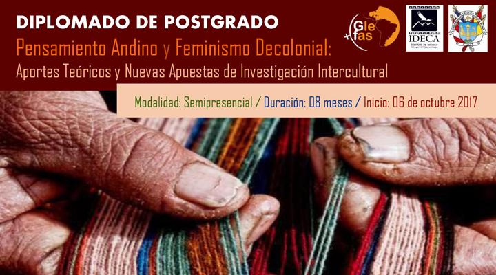 Diplomado de postgrado en Pensamiento Andino y Feminismo Decolonial: Aportes teóricos y nuevas apuestas de investigación intercultural