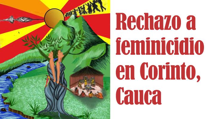 Rechazo a feminicidios en Corinto, Cauca